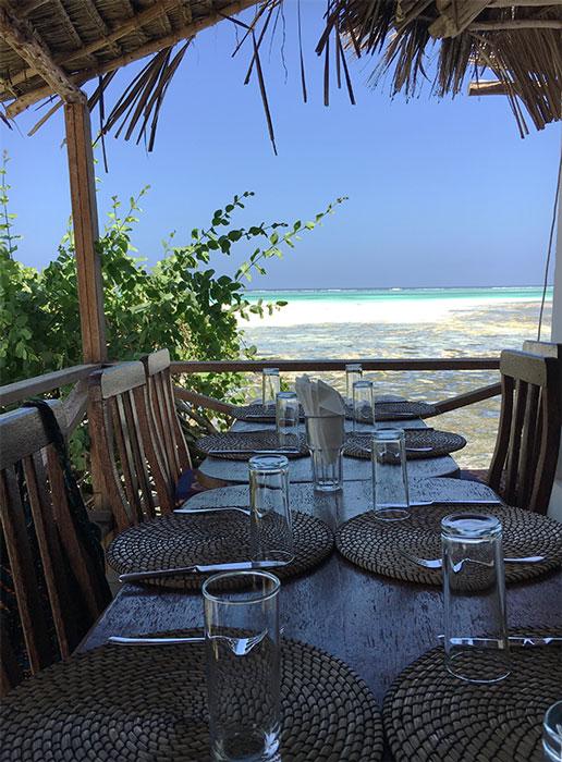 Terrazza del ristorante The Rock Zanzibar