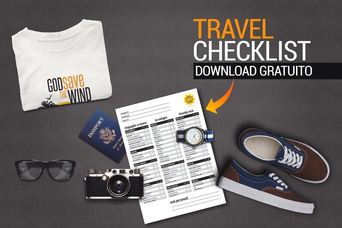 La Checklist definitiva per un viaggio, download gratuito