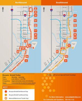 Mappa Trolley Miami