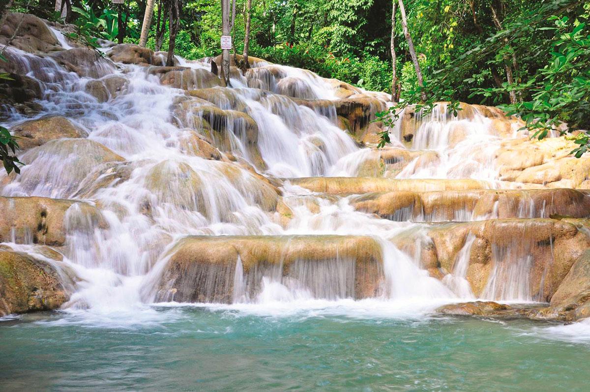 Le Dunn's River Falls sono vicine ad Ocho Rios