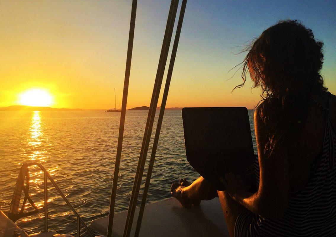 Stefania Conte viaggia lavorando