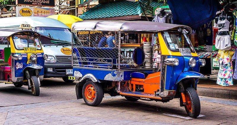 come muoversi in Thailandia con il tuktuk